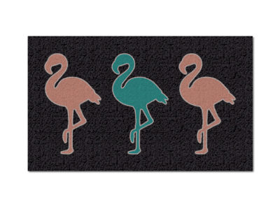 Pink & Teal Flamingos